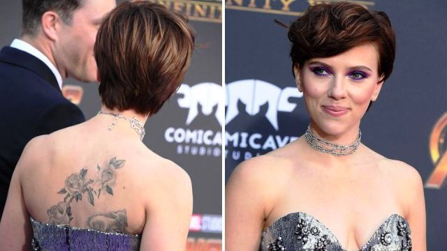Floral Print on her Back