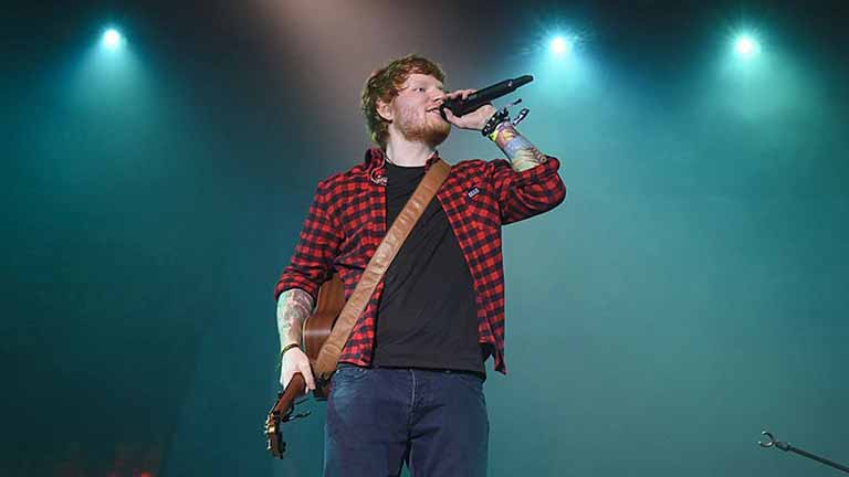 Ed performing