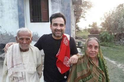 Pankaj Tripathi with his Parents