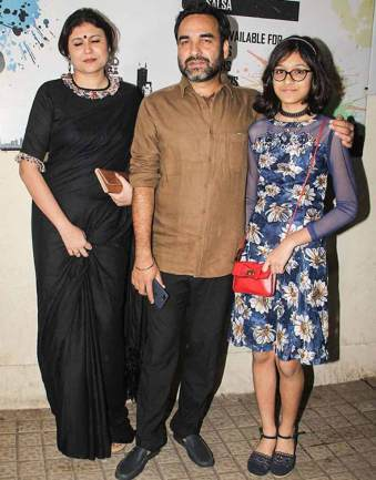 Pankaj with his wife and Daughter