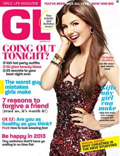 Victoria on cover of  Girls Life