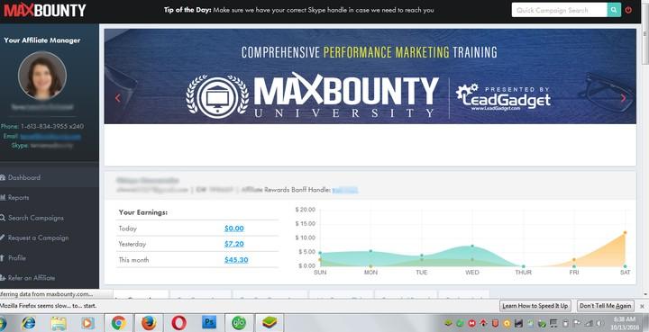 Maxbounty affiliate program