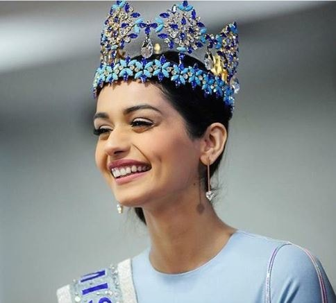 Manushi Chhillar Miss World Crown