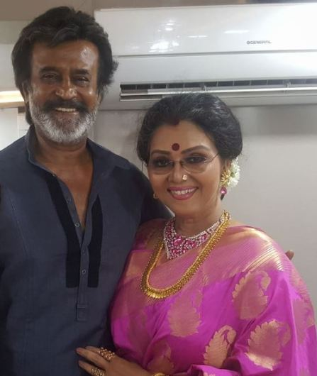 Fathima Babu with Rajinikanth