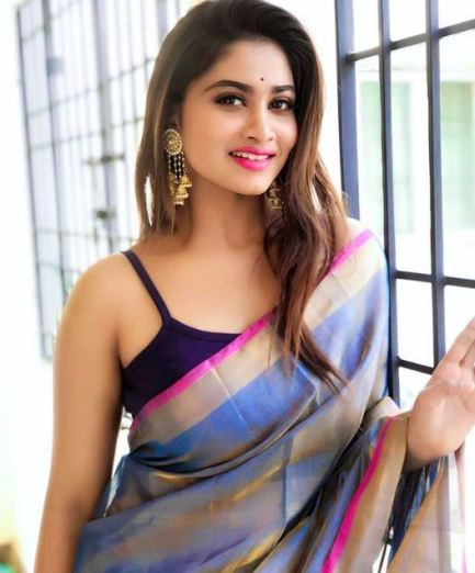Shivani Narayanan in saree