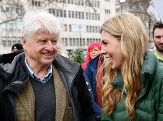 Carrie with PM Boris Johnson