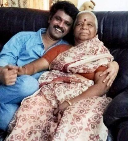 Cheran with mother
