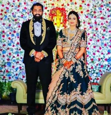 Prerana Shankar and Dhruva Sarja Marriage Photo