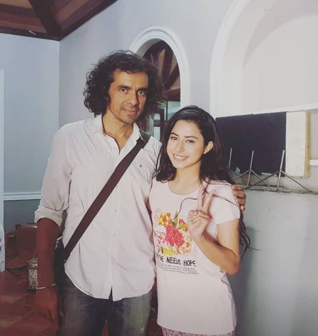 Actress Sejal with director Imtiaz