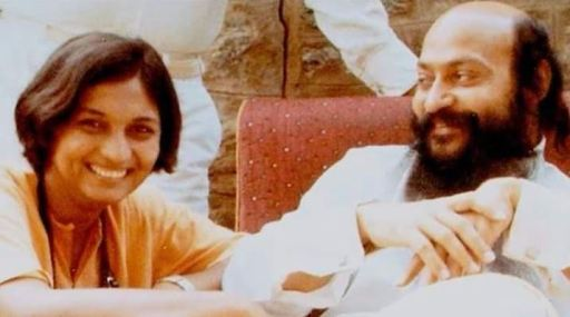 Ma Anand Sheela and Osho Rajneesh