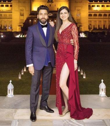 Simran Kaur Mundi and husband Gurickk Mann