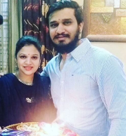 Actor Nikhil with sister Sonal
