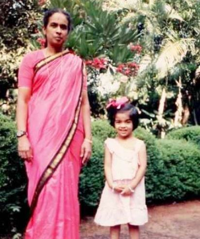 Actress's photo during childhood