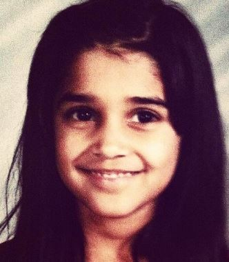 A childhood photo of Anuja