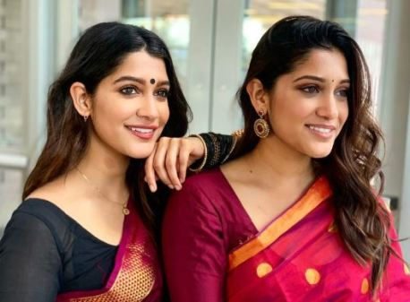 Anuja with twin sister