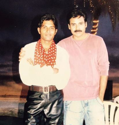 Young age photo with Pawan Kalyan
