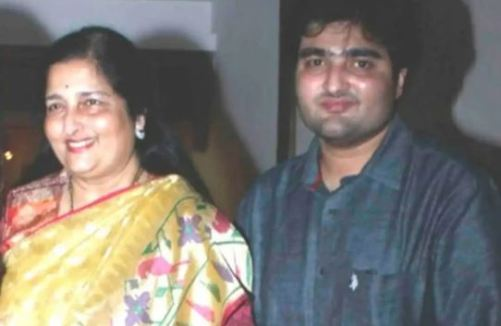 Aditya with his mother