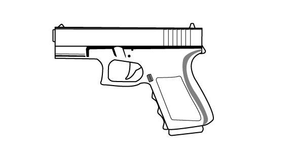 Simple Gun Drawings Easy