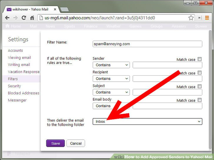 How To Add Approved Senders To Yahoo! Mail: 8 Steps