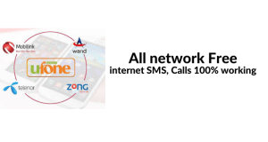 All network Free internet, SMS, Calls 100% working