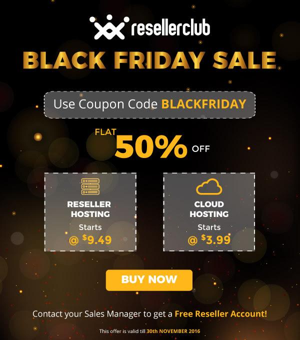 ResellerClub Black Friday Offer 2019, resellerclub black friday discount 2019, reseller club cloud hosting offer 2019, black friday hosting discount, black friday 2019 best hosting discount list usa,