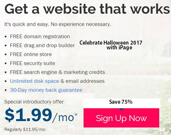 halloween offer hosting 2017