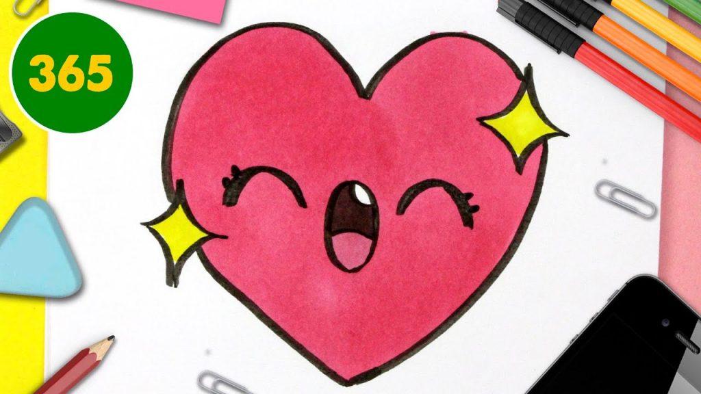 Comment Dessiner Un Coeur Kawaii Dessins Facile Kawaii Cadeaux Originaux Pour Saint Valentin Social Useful Stuff Handy Tips