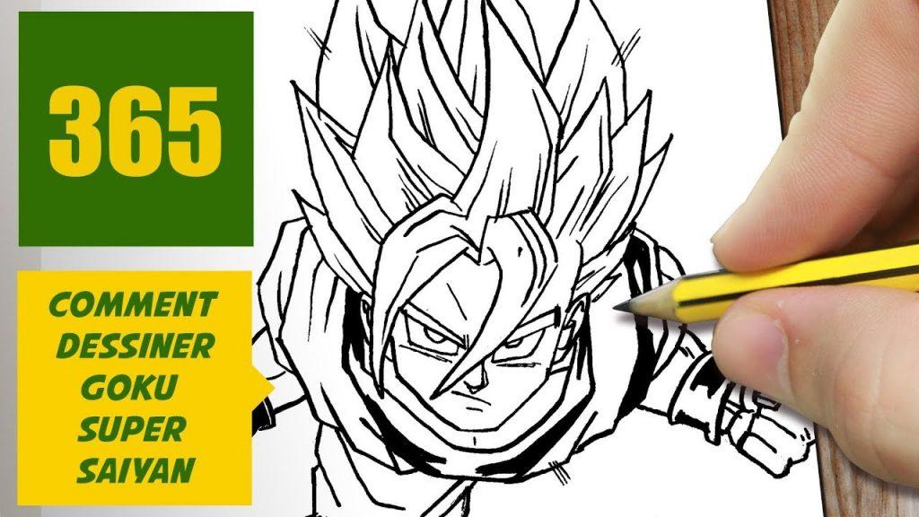 Comment Dessiner Goku Super Saiyan Comment Dessiner Dragon Ball Social Useful Stuff Handy Tips