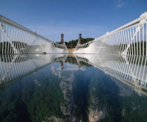 Glass Bridge Located In China