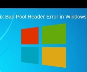 How to Resolve BAD_POOL_HEADER Error