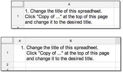 Google Spreadsheet Formatting