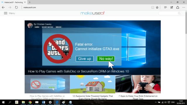 Clutter free in Microsoft Edge
