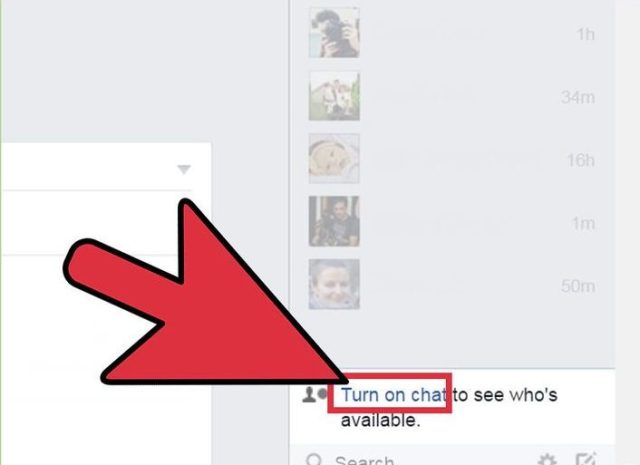 Open the Chat menu on the Facebook website