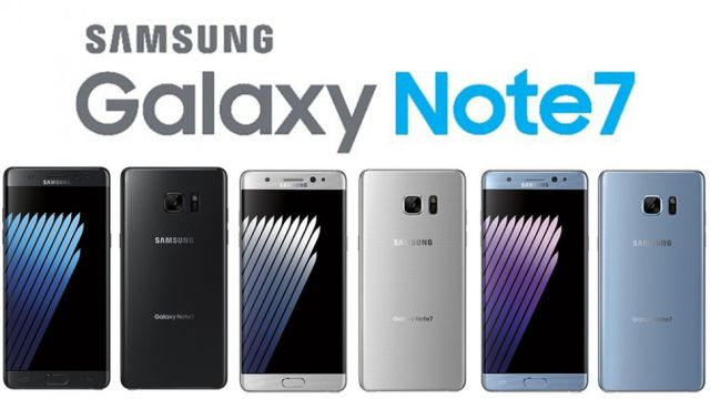 Samsung Galaxy Note7 Colors
