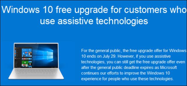 Windows 10 upgrade free