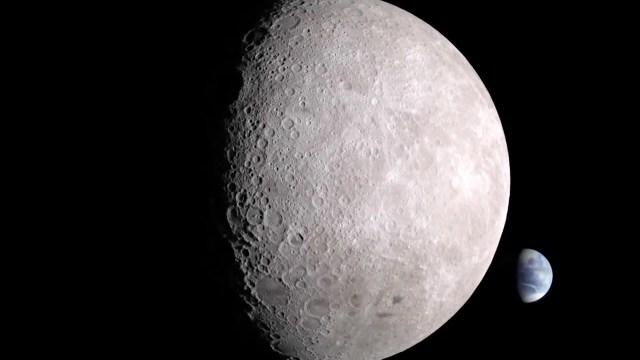 Moon has dark side
