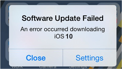 software-update-failed