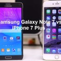 Samsung Galaxy Note 7 vs Apple iPhone 7 Plus