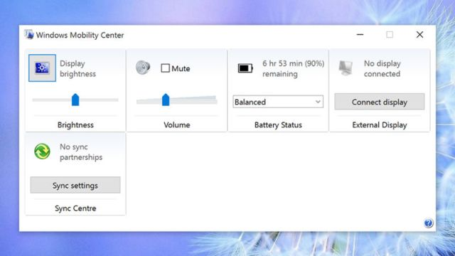 Battery life of Windows 10