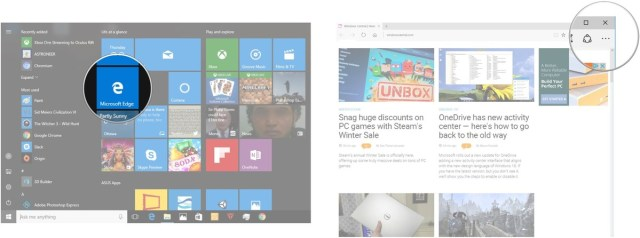 download options in Microsoft Edge