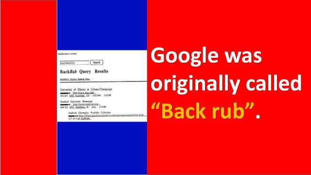 Backrub Google
