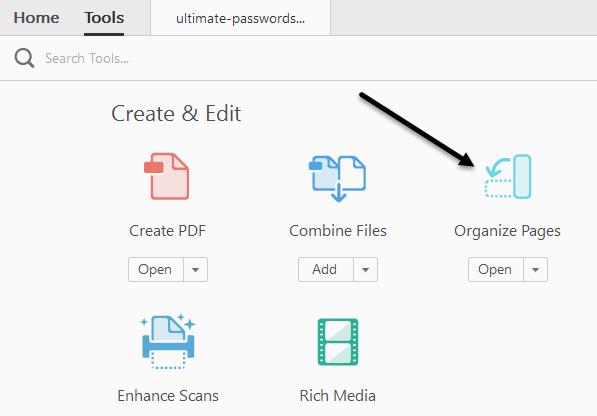 Move PDF Pages Around