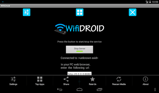 WifiDroid Wifi files transfer