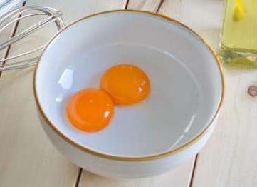 Egg Yolk in a bowl Mayonnaise Preparation