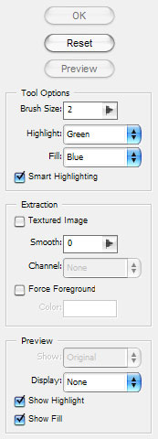 Photoshop Filter Extract