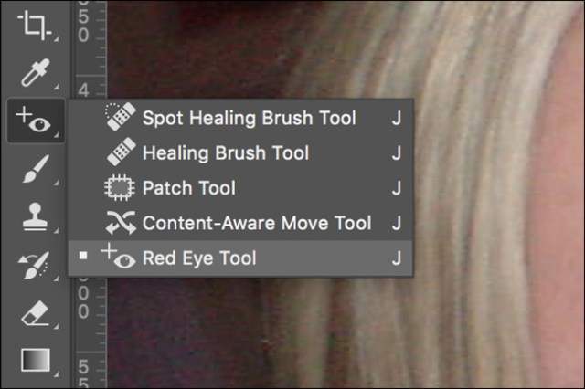 Red Eye Tool in Photoshop
