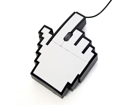 Retro Pointer Finger Cursor Icon Pixel Mouse