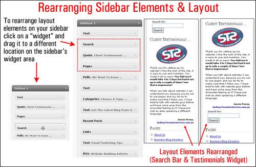 Rearrange the Sidebar
