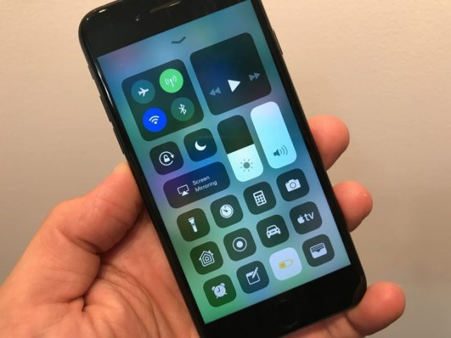 iOS 11 battery