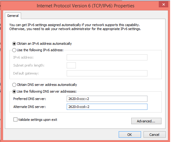 IPv6-configuration